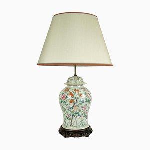 Antike Chinesische Porzellan Tischlampe