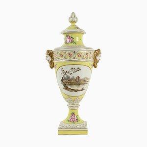 Grand Vase 19ème Siècle en Faïence avec Couvercle