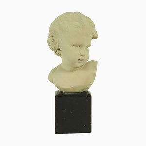 Bust of a Child in Terracotta by Gobet, 1920s