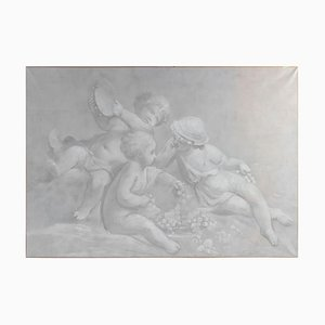 Napoleon III Grisailles on Canvas, Set de 3