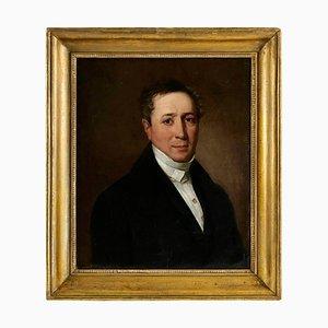 Portrait aus dem 19. Jahrhundert in Öl auf Leinwand eines eleganten Mannes