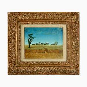 Französische Landschaftsmalerei von J. Faseau, 1950er