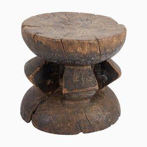 African Wooden Hocker