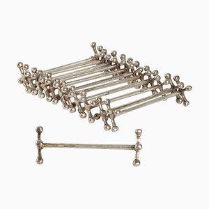 Messerhalter aus Silber Metall, 12er Set