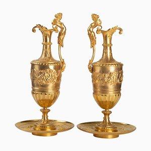 Aiguilles 19ème Siècle en Bronze Doré et Ciselé, Set de 2