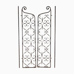 Complete Wrought Iron Interior Grills, 1940s, Set of 2