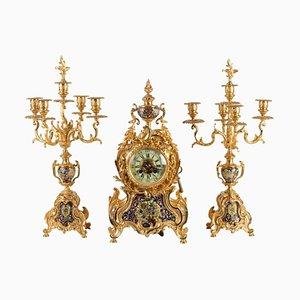 19th Century Napoleon III Mantel Set, Set of 3