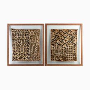 Framed African Fabrics, Set of 2