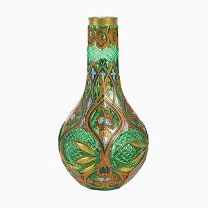 19th Century Napoleon III Bohemian Vase