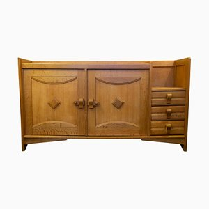 Oak Buffet by Guillerme and Chambron, 1960s