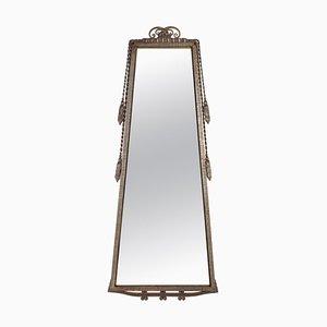 Art Deco Trapez Spiegelrahmen aus Schmiedeeisen von Paul Kiss, 1930er