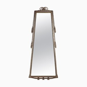 Art Deco Wrought Iron Trapeze Mirror Frame by Paul Kiss, 1930s