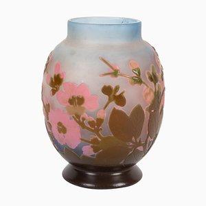 Gallée Vase mit japanischem Kirschblüten Dekor