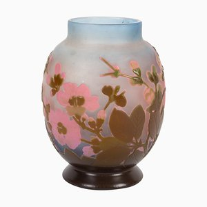 Gallée Vase with Japanese Cherry Blossoms Decor