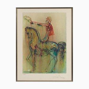 Gerahmte Lithographie von Salvador Dali, 1970er