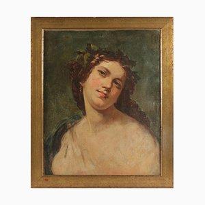 Porträt des 19. Jahrhunderts, das eine romantische Haltung einer Frau darstellt