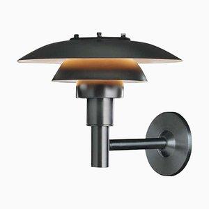 Outdoor Wall Lamp in Black by Poul Henningsen for Louis Poulsen
