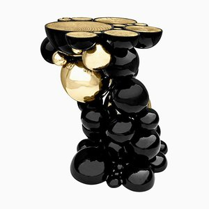 Modern Art Pedestal Side Table