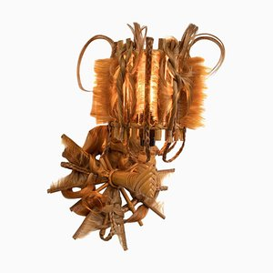 Rattan and Synthetic Fibers Sconces by Micki Chomicki, Set of 2