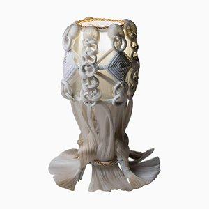 Art Modern Tischlampe aus Rattan und Kunstfasern von Micki Chomicki