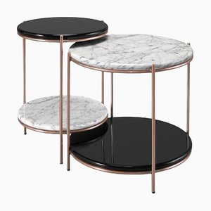 Round Side Tables, Set of 2
