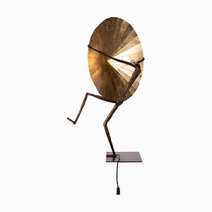 Table Lamp in Bronze by L'Artiste Fantôme