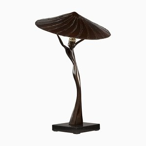 Table Lamp in Bronze by L'Artiste Fantôme