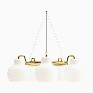 5-Leuchten Hängelampe von Vilhelm Lauritzen für Louis Poulsen