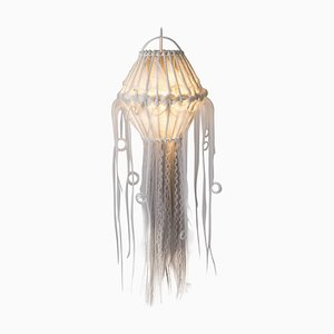 Art Modern Rattan and Synthetic Fibers Suspension Ceiling Light