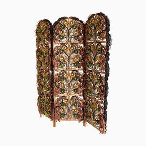 Paravento Art Nouveau Style Art moderno in vimini e fibre sintetiche