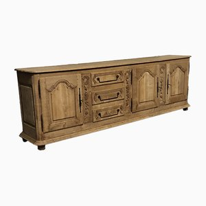 Large French Bleached Oak Sideboard