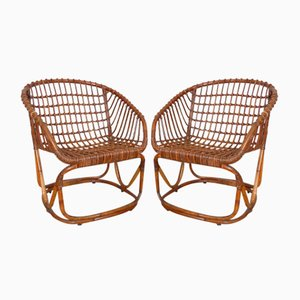 Rattan Chair by Tito Agnoli for Pierantonio Bonacina, 1950s