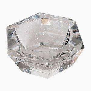 Posacenere vintage esagonale in cristallo di Val St. Lambert