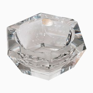 Vintage Crystal Hexagon Ashtray from Val St. Lambert