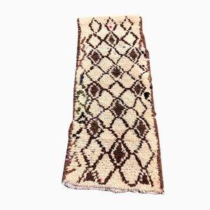 Vintage Beige Beni Ouarain Berber Corridor Carpet