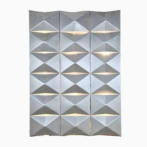 Aluminium Modular Wall Mounted Light Panel, 1960s