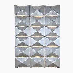 Aluminium Modular Wall Mounted Light Panel, 1960s