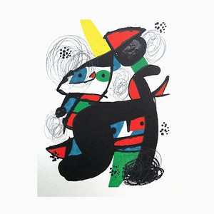 Litografia La Mélodie Acide 11 di Joan Miró per Poligrafa Barcelona SA
