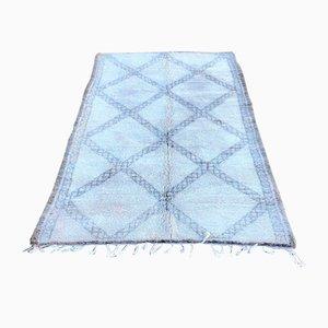 Vintage Black & White Beni Ouarain Berber Carpet