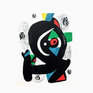 La Mélodie Acide II Lithografie von Joan Miró für Poligrafa Barcelona SA