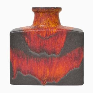 Vintage Fat Lava Vase from Scheurich, 1960s