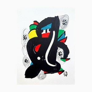 Litografia La Mélodie Acide VI di Joan Miró per Poligrafa Barcelona SA