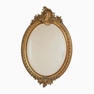 Specchio a muro in legno massiccio, XIX secolo