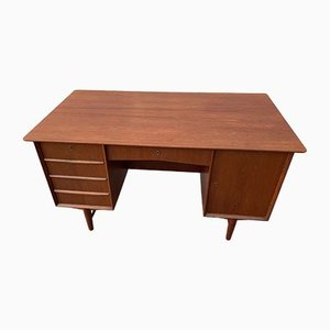 Danish Teak Freestanding Desk, 1960s