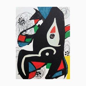 Lithographie La Mélodie Acide X par Joan Miró pour Poligrafa Barcelona SA