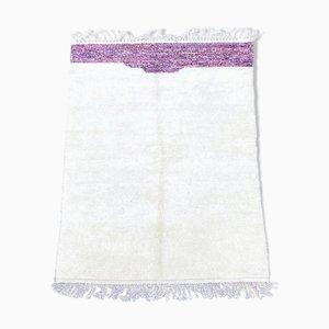 Alfombra Beni Ouarain vintage blanca