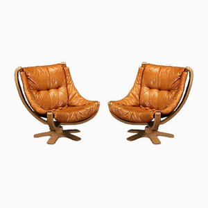 Danish Falcon Lounge Chairs from Skipper Møbler, 1970s, Set of 2