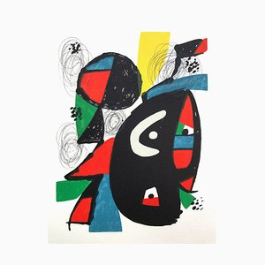 Litografia La Mélodie Acide XII di Joan Miró per Poligrafa Barcelona SA