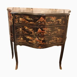 VIntage Chinese Lacquer Chest of Drawers, 1950s