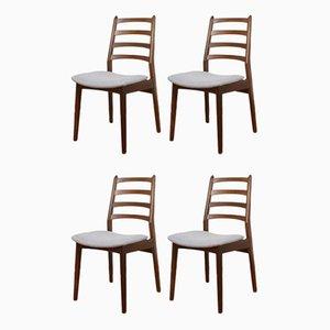 Mid Century Danish Teak Dining Chairs, 1960s, Set of 4